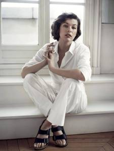Milla Jovovich in Birkenstocks