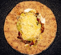 Tortilla with Filling and Toppings