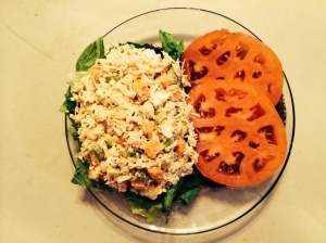 Open-Faced Chicken Salad Sandwich